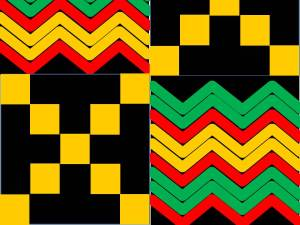 Kente Cloth Sample Pattern
